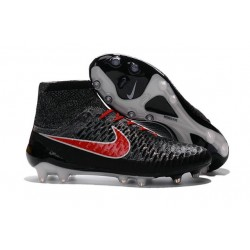 Nike New Magista Obra FG ACC Firm Ground Shoes Black Hyper Crimson