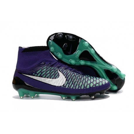 Nike New Magista Obra FG ACC Firm Ground Shoes Purple White Green