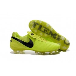 Nike K-leather 2016 Tiempo Legend VI FG Football Boots Volt Black
