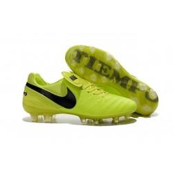 Nike K-leather 2016 Tiempo Legend VI FG Football Boots Volt Black