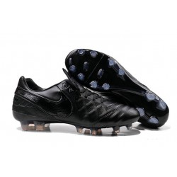 Nike K-leather 2016 Tiempo Legend VI FG Football Boots All Black