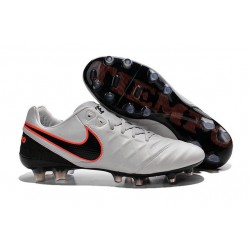 Nike K-leather 2016 Tiempo Legend VI FG Football Boots Pure Platinum Black Crimson