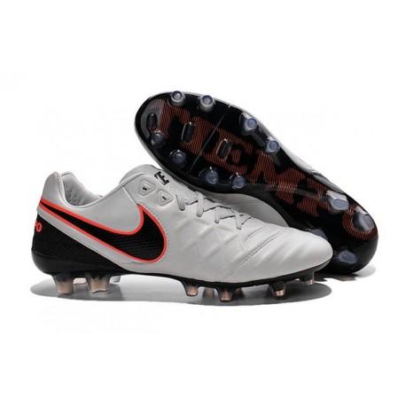 Nike K-leather 2016 Tiempo Legend VI FG Football Boots Pure Platinum Black Crimson