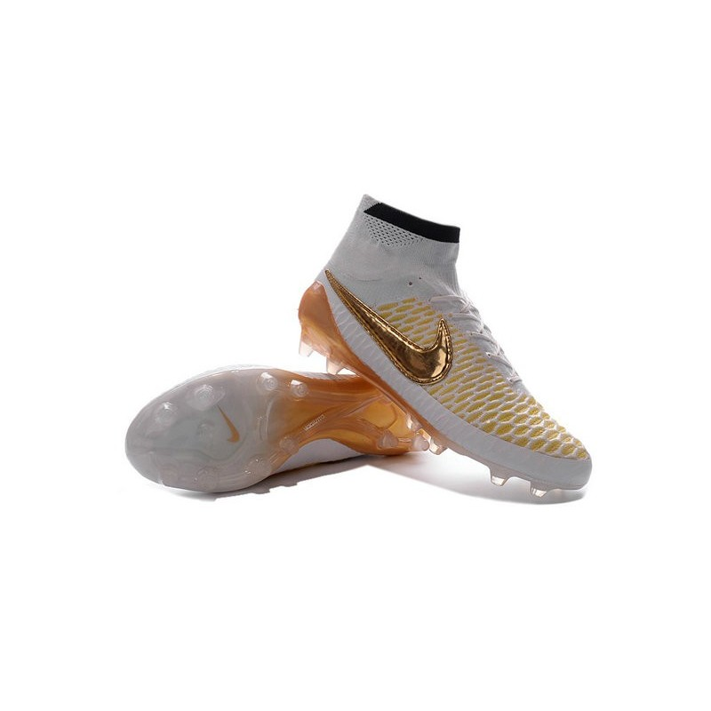 nike new magista obra fg acc firm ground shoes white gold. Black Bedroom Furniture Sets. Home Design Ideas