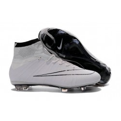 New Nike Mercurial Superfly Iv FG Cristiano Ronaldo Cleats White Black
