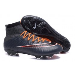 New Nike Mercurial Superfly Iv FG Cristiano Ronaldo Cleats Cyan Orange Black
