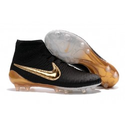 Nike New Magista Obra FG ACC Firm Ground Shoes Black Gold