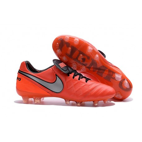 Nike K-leather 2016 Tiempo Legend VI FG Football Boots Orange White Black