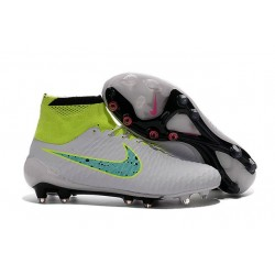 Soccer Cleats 2016 Mens Nike Magista Obra FG White Volt Green