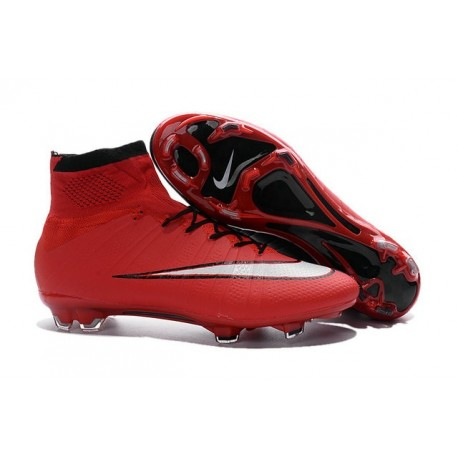 Nike 2016 Top Mercurial Superfly FG Soccer Boots Red Black White