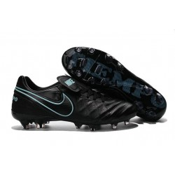 Mens Nike Tiempo Legend 6 FG ACC New Soccer Shoes Black Blue