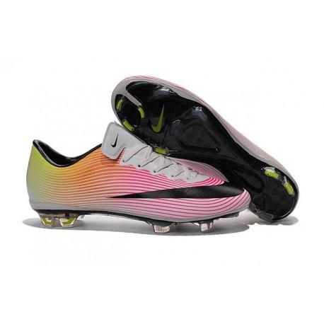 Cristiano Ronaldo Nike Mercurial Vapor X FG CR7 Cleats White Pink Black