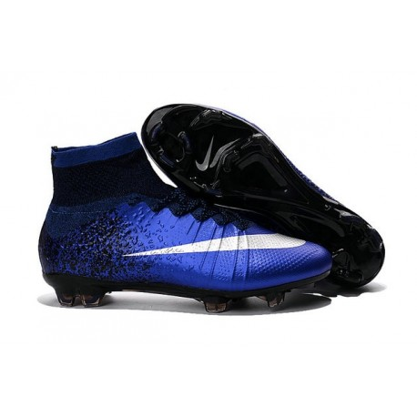 Nike 2016 Top Mercurial Superfly FG Soccer Boots Deep Blue Silver