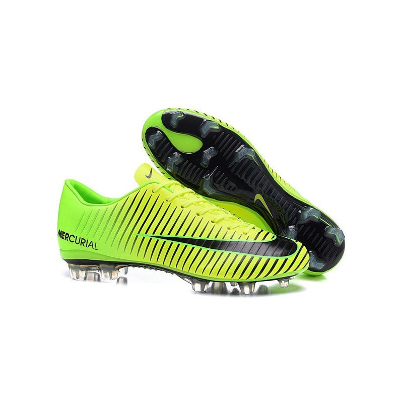 news nike mercurial vapor 11 fg football boots green black. Black Bedroom Furniture Sets. Home Design Ideas