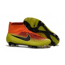 Soccer Cleats 2016 Mens Nike Magista Obra FG Crimson Black Yellow
