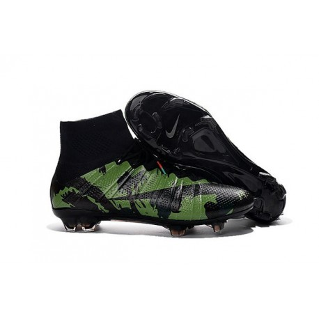 News 2016 Nike Mercurial Superfly FG Firm Ground Football Cleats Camo Green Black