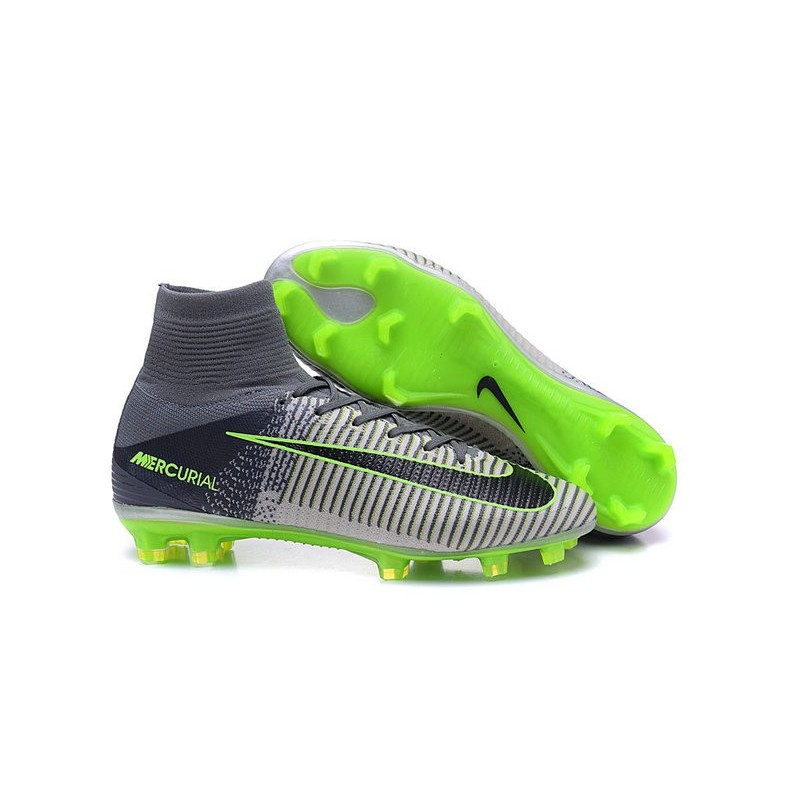 cristiano ronaldo nike mercurial superfly 5 fg soccer cleats grey black. Black Bedroom Furniture Sets. Home Design Ideas