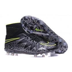 Nike 2016 Hypervenom Phantom II FG Men Soccer Boots Pitch Dark Black