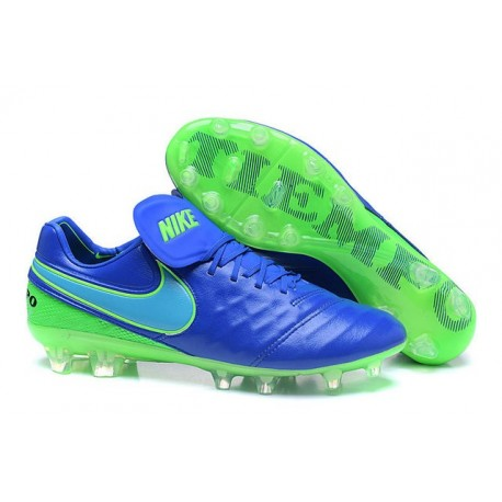 Mens Nike Tiempo Legend 6 FG ACC New Soccer Shoes Blue Green