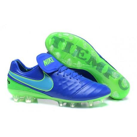 Mens Nike Tiempo Legend 6 FG ACC New Soccer Shoes Blue Green