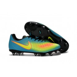 Nike Magista Opus II FG ACC News Soccer Cleat Blue Yellow Orange