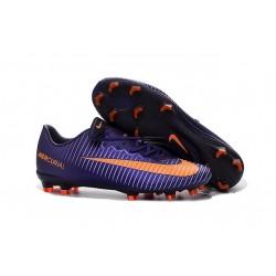 Nike Mercurial Vapor XI FG ACC New 2016 Soccer Cleats Purple Orange