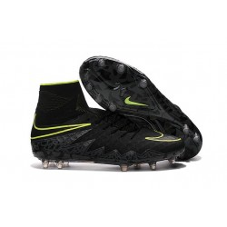 New Nike Hypervenom Phantom 2 FG Firm Ground Shoes Black Volt