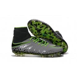 New Nike Hypervenom Phantom 2 FG Firm Ground Shoes Pure Platinum Green Black