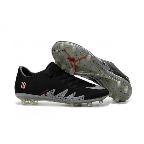 Nike Hypervenom Phinish Neymar x Jordan Soccer Cleats Black Silver