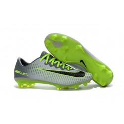 Nike Mercurial Vapor XI FG ACC New 2016 Soccer Cleats Grey Black Green
