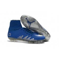 New Nike NJR Neymar X Jordan Hypervenom II FG Blue Silver