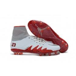 New Nike NJR Neymar X Jordan Hypervenom II FG White Red