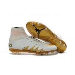 New Nike NJR Neymar X Jordan Hypervenom II FG White Gold