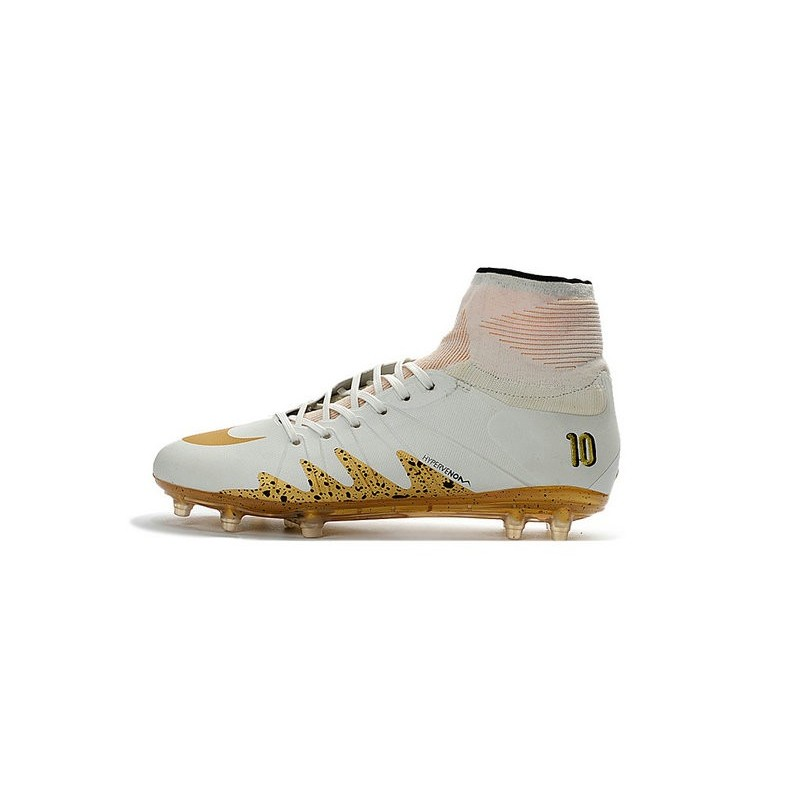 new nike njr neymar x jordan hypervenom ii fg white gold. Black Bedroom Furniture Sets. Home Design Ideas