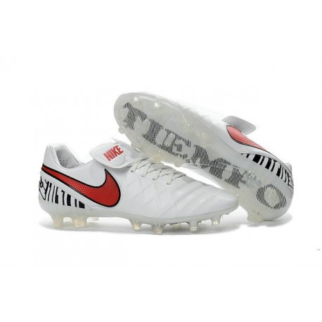 Mens Nike Tiempo Legend 6 FG ACC New Soccer Shoes White Red