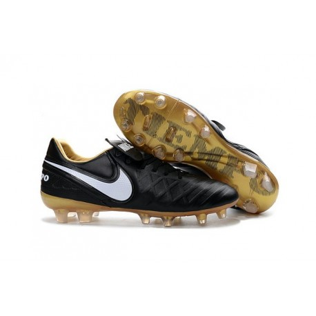 Mens Nike Tiempo Legend 6 FG ACC New Soccer Shoes Black White Gold