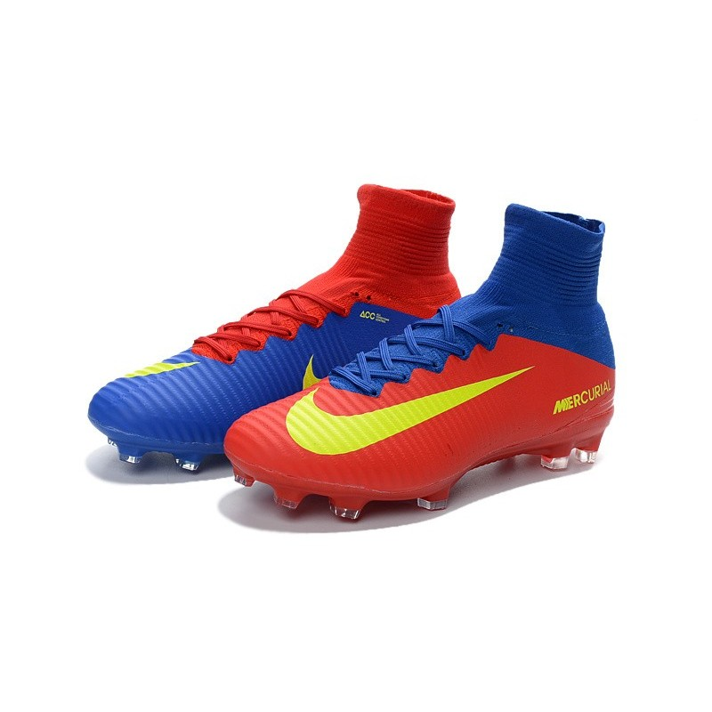Nike Mens Mercurial Superfly 5 ACC FG Football Boots Blue ...