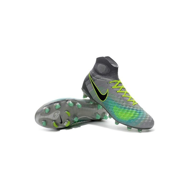 Nike Magista Obra II FG 2016 News Soccer Boots Grey Blue Black