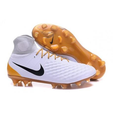 Nike Magista Obra II FG News Soccer Boots White Gold Black