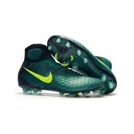 Nike Magista Obra II FG Mens Football Cleats Jade Obsidian Volt