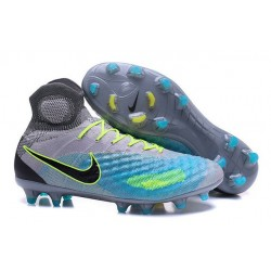 Nike Magista Obra II FG Mens Football Cleats Grey Blue Black