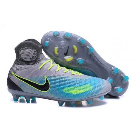 Nike Magista Obra II FG Mens Football Cleats Grey Blue Black