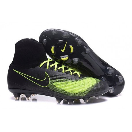 New Nike Magista Obra 2 FG Football Boot Black Yellow