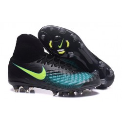 New Nike Magista Obra 2 FG Football Boot Black Blue Volt