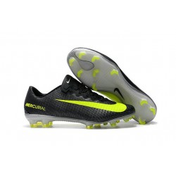 Nike Mercurial Vapor XI FG CR7 ACC New Soccer Cleats Black Yellow