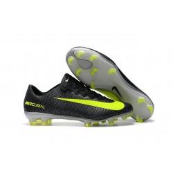 Nike Mercurial Vapor XI FG CR7 ACC New Soccer Cleats Black Yellow