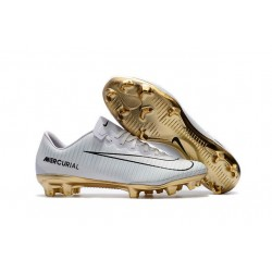 Nike Mercurial Vapor Vitórias CR7 11 FG 2017 Soccer Shoes White Gold
