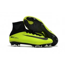 New 2017 Nike Mercurial Superfly V FG ACC Soccer Boots Volt Black