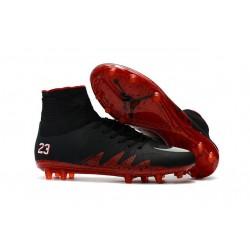 Neymar Jordan NJR Nike Hypervenom II FG Soccer Cleats Black Red