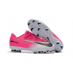 Nike Mercurial Vapor 11 FG 2017 Soccer Shoes in Pink White
